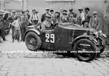 MG Midget. Photo.  Sir Francis Samuelson Le Mans 1930